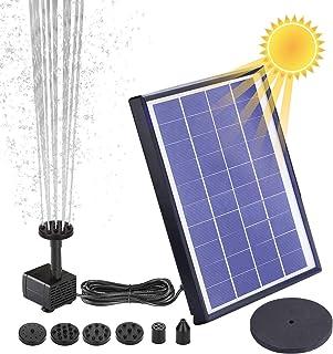 AISITIN Solar Fuente Bomba, 6.5W Fuente de Jardín Solar,