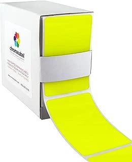 ChromaLabel 2 x 3 inch Color-Code Labels   250/Dispenser Box (Fluorescent Yellow)