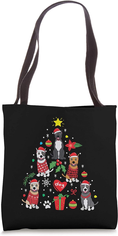 Staffordshire Bull Terrier Christmas Ornament Tree Dog Funny Tote Bag