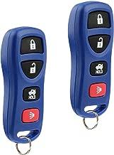 Key Fob Keyless Entry Remote fits Nissan Altima Maxima 350Z Armada Quest Sentra / Infiniti EX35 FX35 FX45 G35 I35 Q45 QX56 (KBRASTU15 Blue), Set of 2