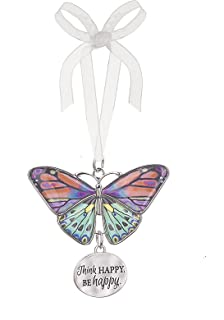 Ganz Home Decor Christmas/Spring Blissful Journey Butterfly Ornament (Think Happy. Be Happy. EA13547)