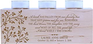 LifeSong Milestones Personalized A Limb Has Fallen from Our Family Tree Memorial Sympathy Candle Holder Custom Engraved Maple Wood Keepsake Ideas for Loved One 10