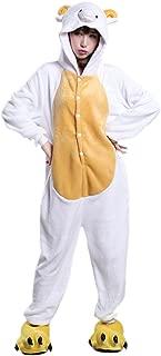 MizHome Sheep Kigurumi Pajama One-Piece Halloween Cosplay Costume Nightwear
