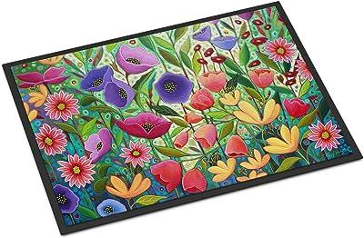 Caroline's Treasures Enchanted Garden Flowers Door Mat doormats, Multicolor