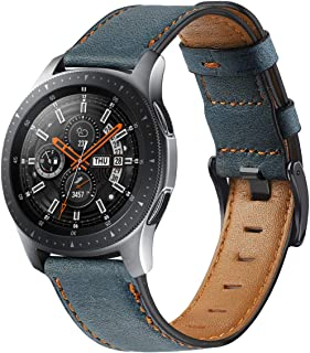 Compatible with Galaxy Watch 46mm Bands Leather,Gear S3 Bands 22mm Genuine Leather Replacement Strap Watch Band for Samsun...