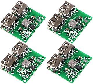 MakerHawk 4pcs USB DC-DC Voltage Buck Regulator Step Down Power Supply Module 9V 12V 24V to 5V Dual USB Output Buck Voltag...