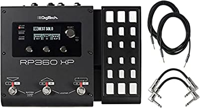 Digitech RP360XP Electric Guitar Multi Effect Pedal With A Pair of Patch Cables and Instrumental Cables