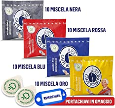 MINI MIX 40 VAINAS CAFFÈ BORBONE - 10 MISCELA NERA - 10 MISCELA ROSSA - 10 MISCELA BLU - 10 MISCELA ORO con 1 EXCLUSIVO LLAVERO EUROCHIBI®