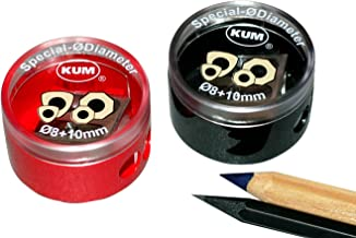 Kum 105.39.21 Magnesium 2-Hole Double Sharpener, Colors Vary