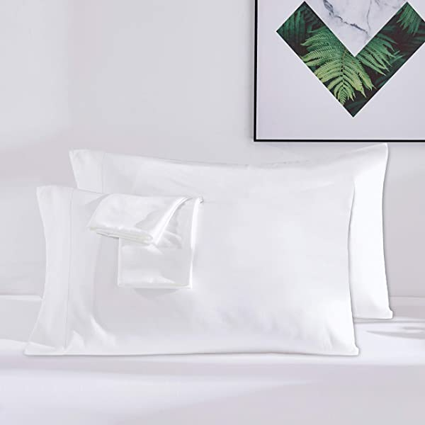 Dreaming Wapiti Pillow Cases 100 Washed Microfiber Pillowcase Queen For Hair And Skin 2 Pack With Envelope Closure Pure White
