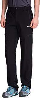 Men's Elastic-Waist Travel Pant Stretchy Lightweight Cargo Pant Quick Dry Breathable