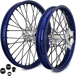 TARAZON 21/18 Blue Spokes Wheels Rims Hubs for YAMAHA YZ250F YZ450F YZF 250 450 2014 2015 2016 2017 2018 2019