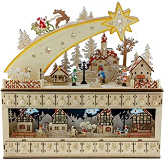 Clever Creations Shooting Star Snowy Village 24 Day Advent Calendar Premium Christmas..