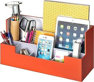 Desk Supplies Office Organizer Caddy (Orange, 13.4 x 5.1 x 7.1 inches) JackCubeDesign-:MK268C