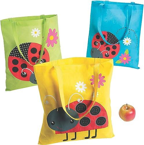te hará satisfecho Ladybug Tote Bags - 12 12 12 ct by Ladybugs  liquidación hasta el 70%