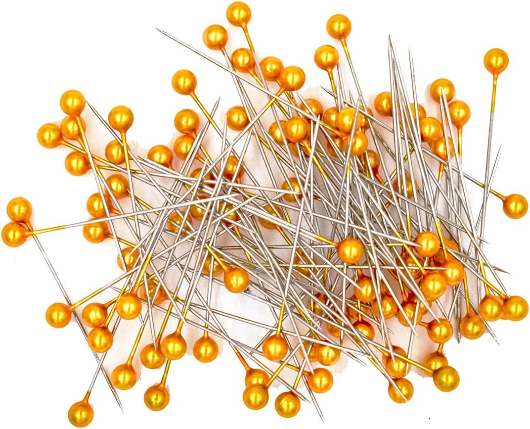 LEFV Quilting Pins Ball Head Sewing Over item handling ☆ Pack 100 Fort Worth Mall of Orange