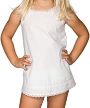 I.C. Collections Little Girls White Simple A-Line Slip, 2T - 6x