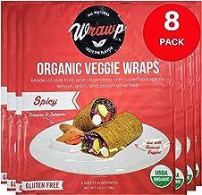 product image for WrawP Spicy Veggie Wraps 8 Pack Raw Organic Veggie Wrap Flatbread | Wheat-Free Gluten Free Paleo Wraps Non-GMO Vegan Friendly Plant-Based Sustainable Made in the USA