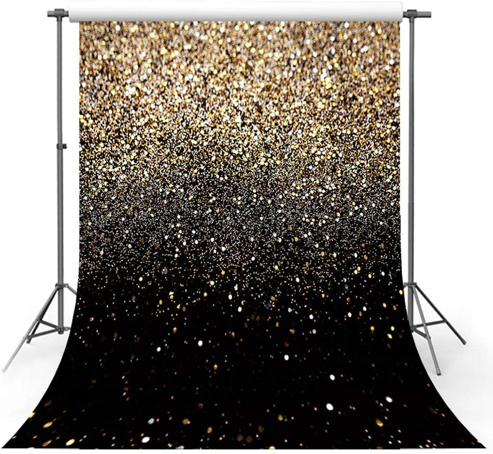 Max 51% OFF MEHOFOTO Gold Glitter Sequin Spot Free shipping / New Black Backdrops Sk Starry Prom