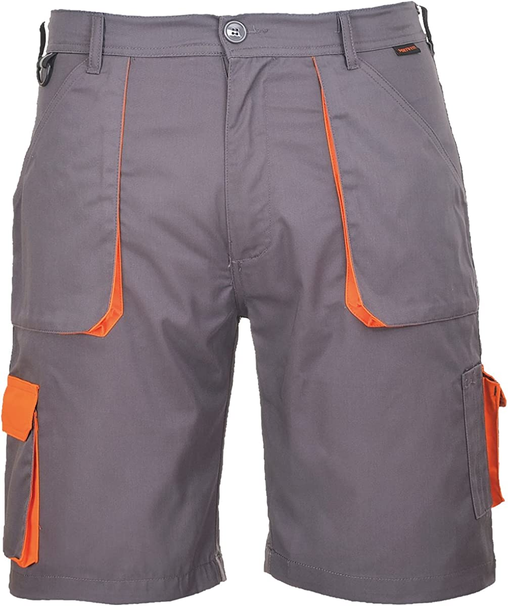 Portwest Men's Texo Contrast Shorts XXL Grey