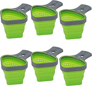 Pasta Portion Control Containers (6 Pack) Best Cooking Gadgets & Kitchen Tools, Use With Spaghetti or Other Pastas, Easy to Clean, Collapsible & Perfect Storage Size - Control Portions and Weight Loss