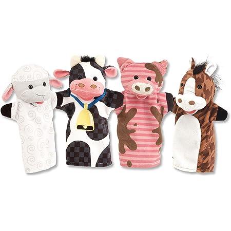 Melissa & Doug | Marionnettes À Main | Animaux de la ferme| Marionnettes & Théâtres | 2+ years