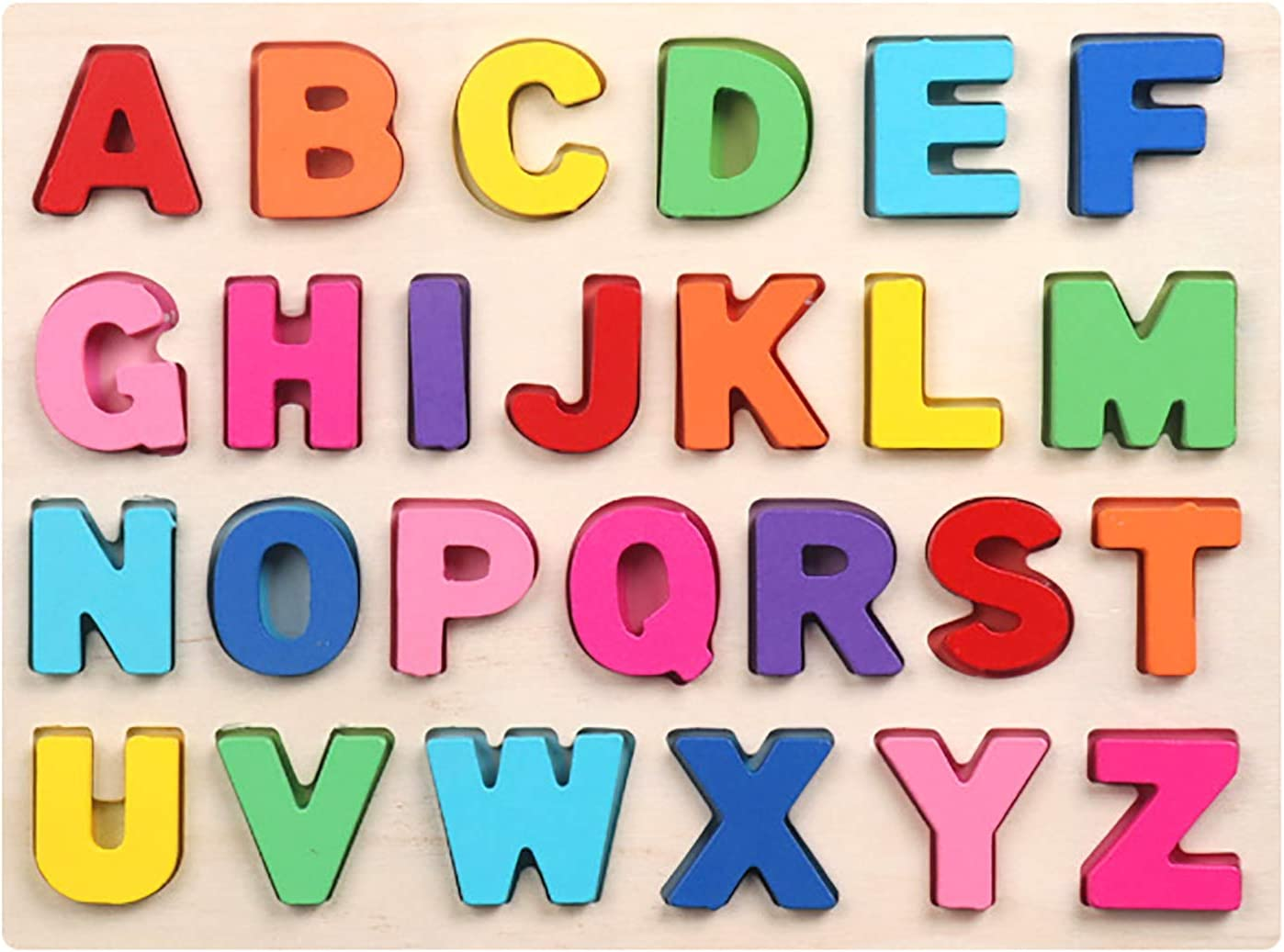 kekafu Wooden Max 49% OFF Alphabet Puzzles Puzzle Board ABC Don't miss the campaign