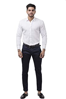 POUXA Casual Navy Blue CHINO'S (32)