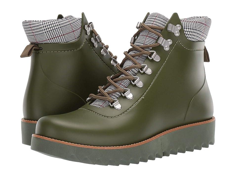 Bernardo Winnie Hiker Rain Boot (Military Rubber/Plaid) Women