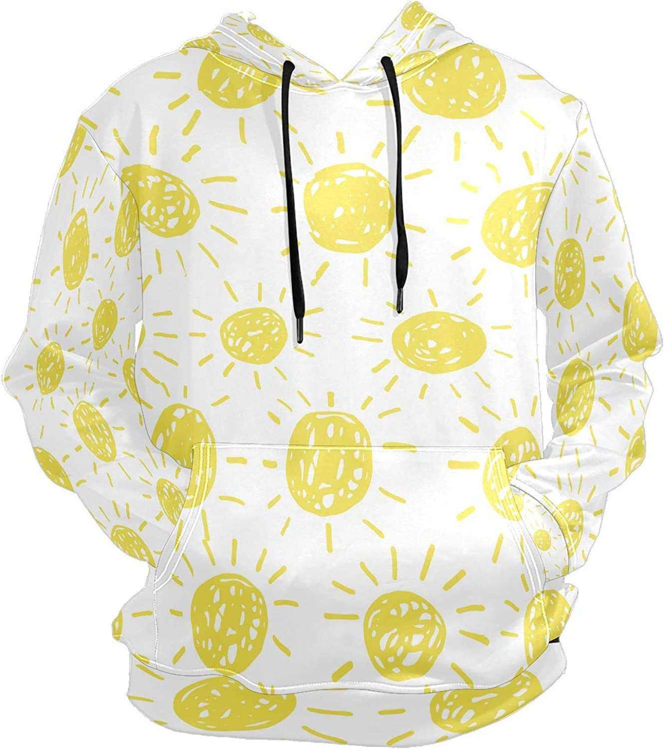 Men's Sport Hoodie Yellow Solar Sun Energy Brilliant Lovely Big and Tall Hoodies for Men Women Oversized Hooded Sweatshirt Hip Hop Pullover Hoodie Midweight Hood for Boys Girls