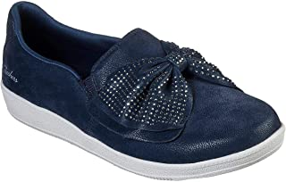 Skechers Women's Madison Ave - Curtsied Slip On Sneaker, Navy, 9