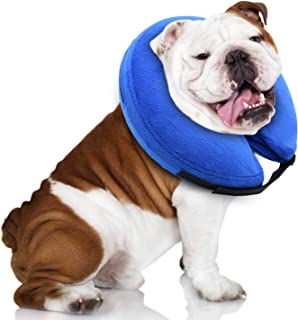 E-KOMG Protective Inflatable Collar for Dogs,Pet Recovery Collar,Cone for Cat After Surgery,Does Not Block Vision E-Collar