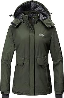 Wantdo Women's Mountain Ski Fleece Jacket Waterproof Parka Winter Raincoat