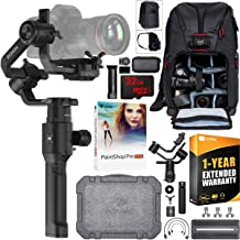 DJI Ronin-S 3-Axis Handheld Gimbal Stabilizer for Mirrorless and DSLR Cameras Creative Bundle with Deco Photo Backpack Case + 1 Year Warranty Extension + 32GB High Speed Card + Paintshop Pro Software