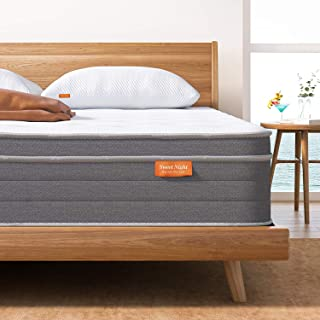 Sweet Night 10 Inch Queen Mattress In a Box - Sleep Cooler with Euro Pillow Top Gel Memory Foam, Individually Wrapped Pock...