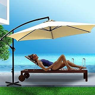 Mountview 3M Outdoor Umbrella Cantilever Garden Patio Beach Umbrellas Beige Without Base