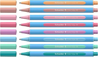 Schneider Slider Edge Pastel XB Ballpoint Pen, 8 Pens with Easel Stand, Assorted Colors (152289), 8 Pack in Easel Stand