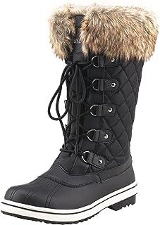 366c4a98f7b32 Shenji Bottes de Neige Femme Fourrées Après Ski Boots Hiver Anti-dérapants  Doublure Chaude H7630