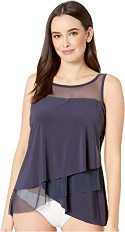 Solid DD-Cup Mirage Tankini Top