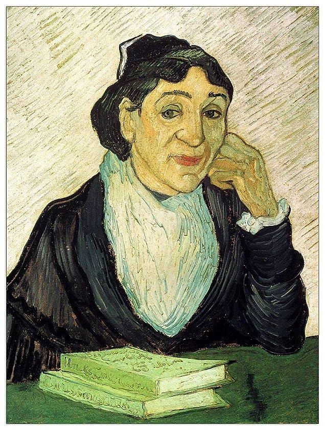 ArtPlaza TW90708 Van Gogh Vincent - L Arlesienne Madame Ginoux Decorative Panel 27.5x35.5 Inch Multicolored