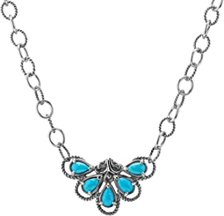 Carolyn Pollack Sterling Silver Sleeping Beauty Turquoise Necklace - 18 Inch