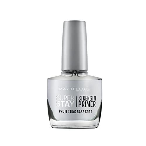 Maybelline New York Super Stay Nail Primer Protecting Base Coat, Clear, 10ml