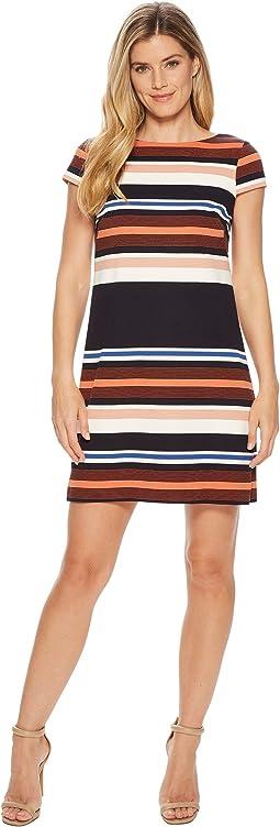 Adrianna Papell - Yarn-Dyed T-Shirt Dress