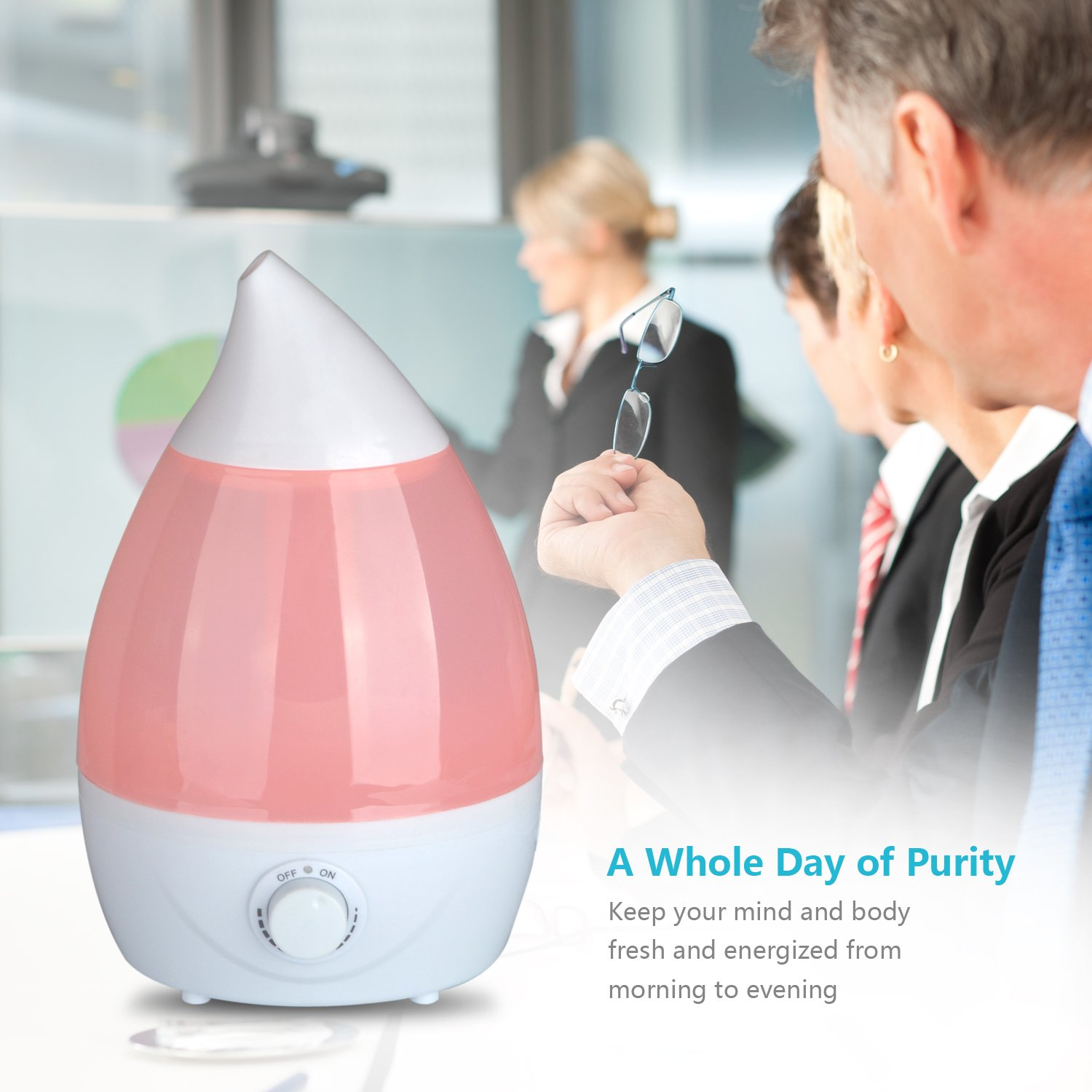 Pmallcity Air Humidifier, 1.6L Ultrasonic Air Humidifier for
