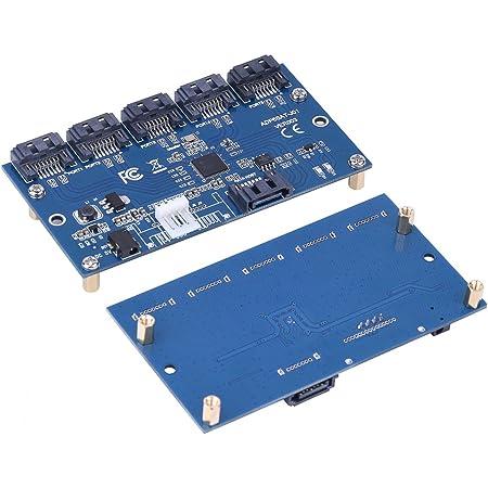 VBESTLIFEアダプタカードSATA 15ポートコンバータ高速SATA接続1.5 Gbps、3.0 GbpsSATAポートマルチプライヤライザカードハブWindows 7 / XP/Vista / 8/10対応