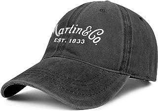 Mens Womens C.-F.-Martin-Guitar- Adjustable Classic Golf Hats Trucker Washed Dad Hat Cap