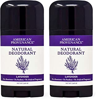2-Pack Lavender American Provenance All Natural Aluminum-Free Deodorant for Men and Women