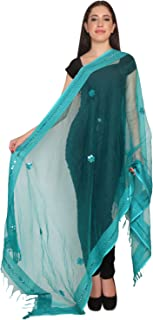 women ethnic long indian traditional shawl-stole-duppatta-chunni-scarf-wrap