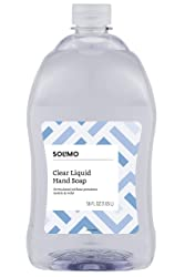 Solimo Gentle & Mild Clear Liquid Hand Soap Refill