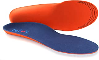 Dr. Foot's Orthotics Insoles for Flat Feet - Arch Support Shoe Inserts for Plantar Fasciitis, Foot & Heel Pain, High Arches and Over-Pronation, Comfort & Relief for Men and Women - L